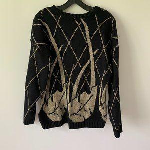 Vintage 80s / 90s Lurex Knit Roll Neck Sweater